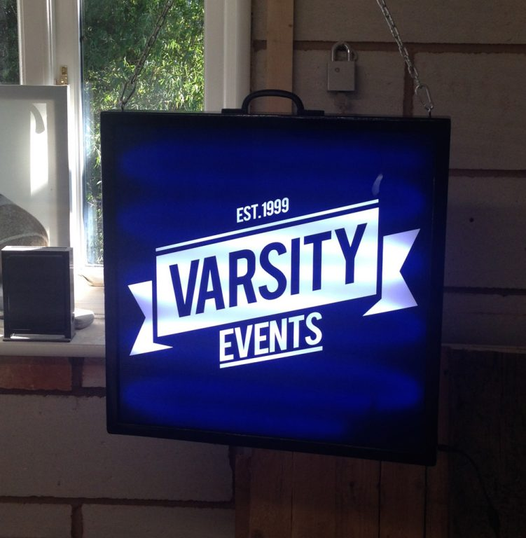 lightbox-oxford-varsity - custom wood framed light box