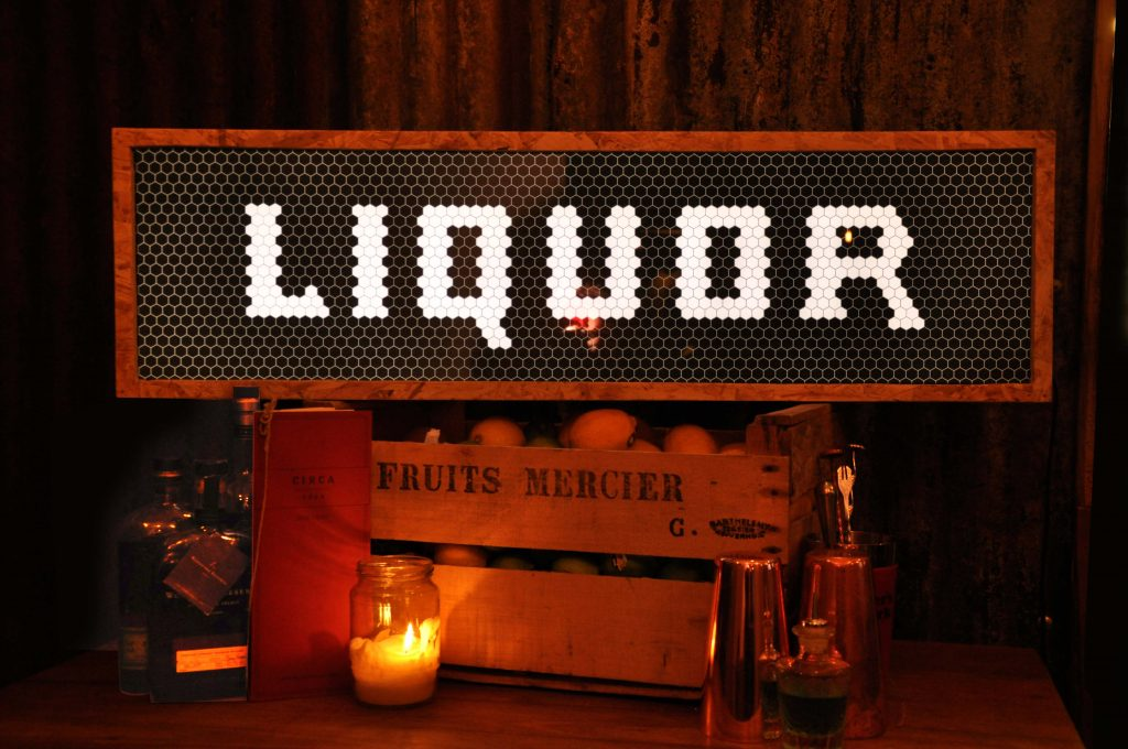 liquor lightbox - Liquor - custom chipboard light box