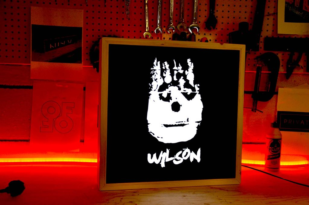 Wilson records - custom Lightbox - plywood