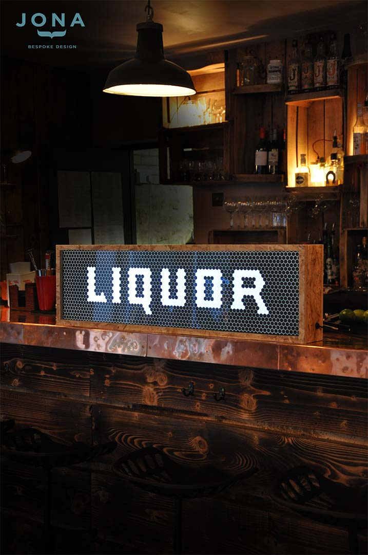 liquor - light box - design