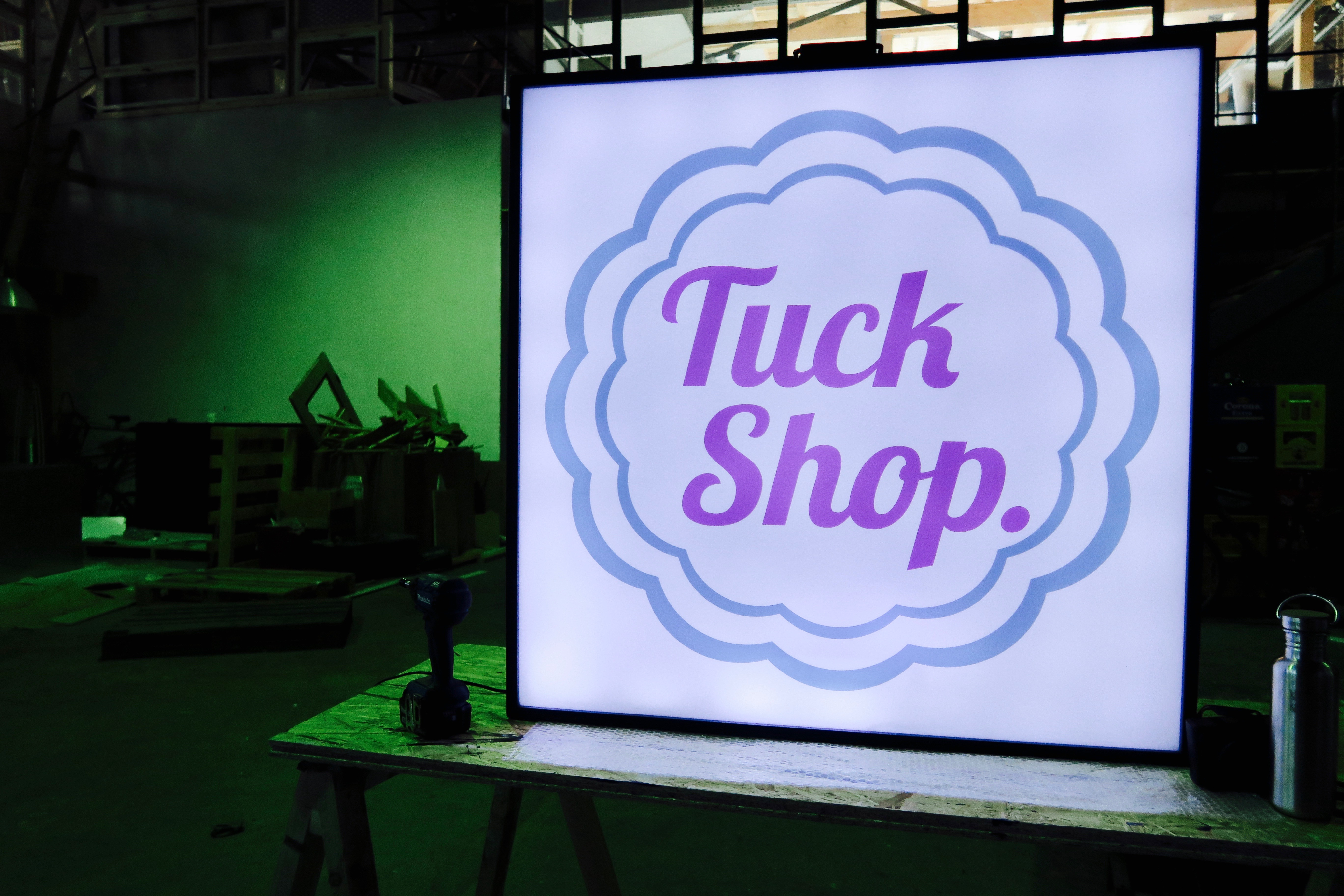 Tuck shop London light box