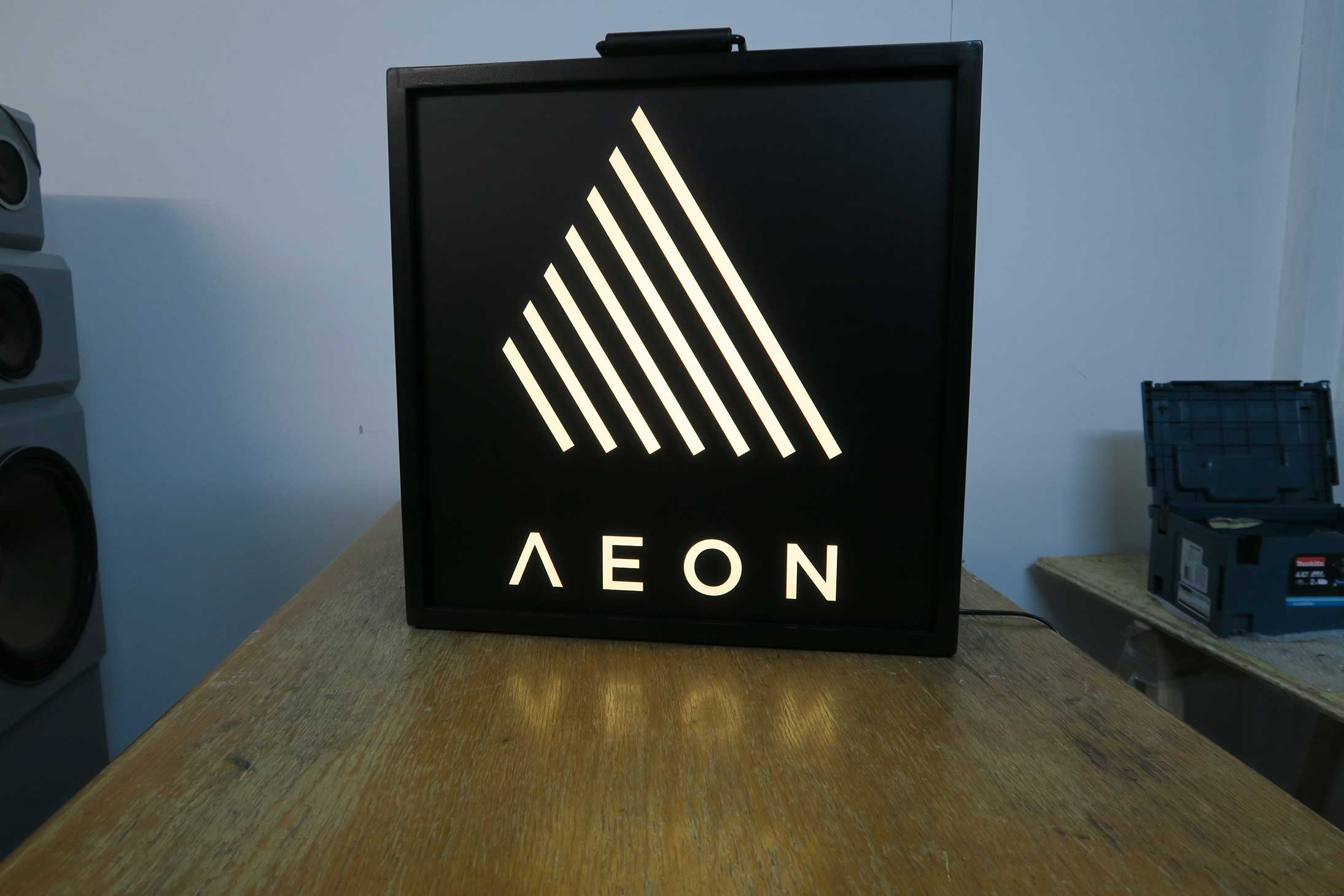 Aeon light box sign